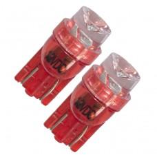 Diodlampa 12V W5W - Röd