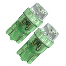 Diodlampa 12V W5W - Grön