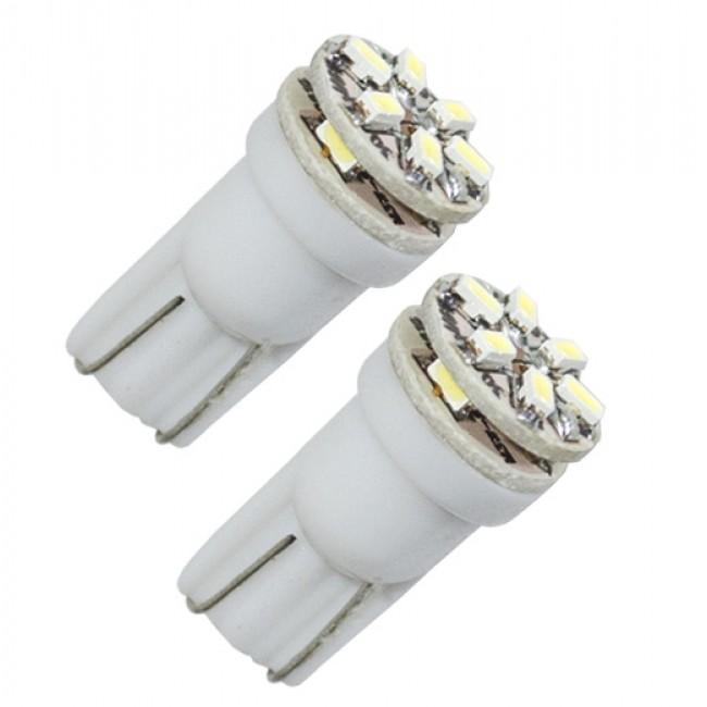 Diodlampa 9 SMD LED W5W - Xenonvit