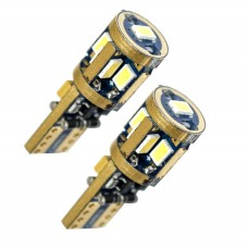 LED-lampa med 9 st Samsung-dioder (xenonvit, T10 / W5W) ETT PAR