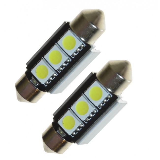 Canbus-lampa 36 mm C5W, xenonvit