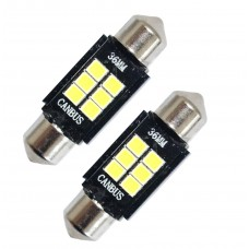LED Canbus-spollampa 36 mm (xenonvit, 6 x SMD)
