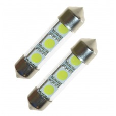 LED lampa xenonvit 39 mm 3 SMD