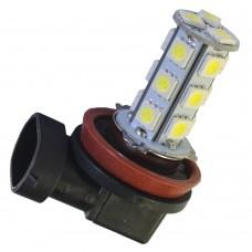 Ledlampa H11, 24V, xenonvit 18 SMD