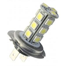 Ledlampa H4, 24V, xenonvit 18 SMDled