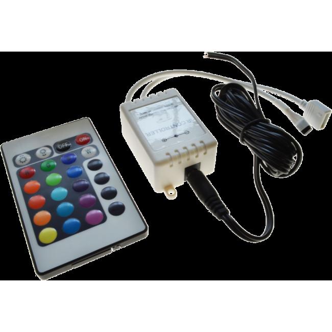 RGB Controller & fjärrkontroll (24V)