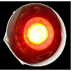 Diodskruv rund kromad 24 volt - Röd