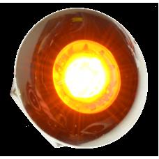 Diodskruv rund kromad 24 volt - Gul
