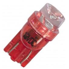 Diodlampa 1 diod 24V W5W - Röd