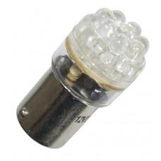 Diodlampa vit 8 dioder 24 V
