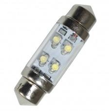 Diodlampa 36 mm 24V Spollampa - Blå