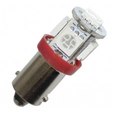 Diodlampa 5 x SMD BA9s - Röd
