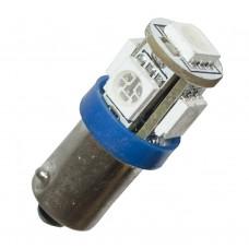 Diodlampa 5 x SMD BA9s - Blå