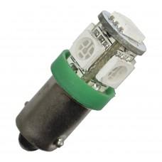 Diodlampa 5 x SMD BA9s - Grön
