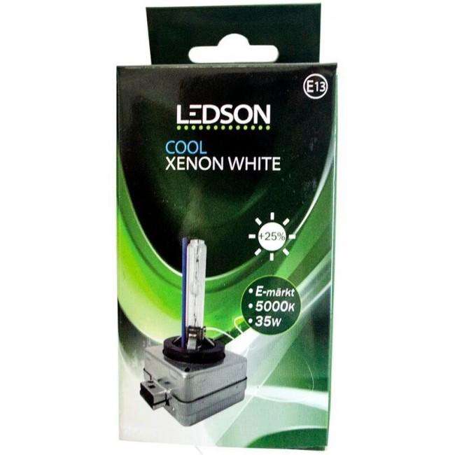 """LEDSON xenonlampa 35W - D1S & 5000K """"Cool Xenon White"""" (E-märkt)"""