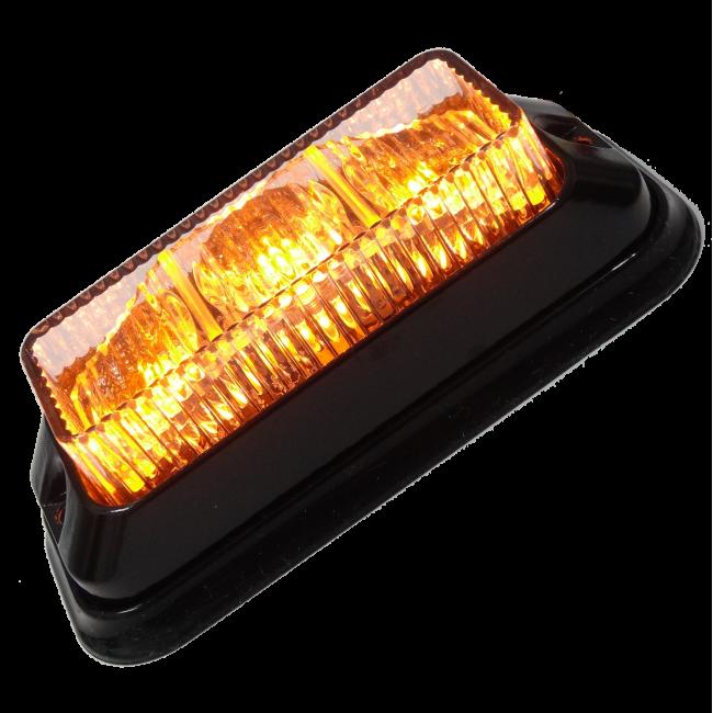 Blixtljus 3 LED, vinklade dioder, ECE R65 - - Orange