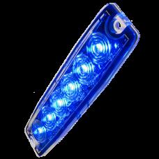 Supertunt blixtljus, 6 LED E-märkt - - Blå