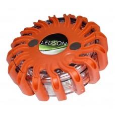 Varningspuck LED (9 blixtmönster, uppladdningsbar)
