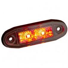 "Boreman ""Easy Fit"" LED sidomarkering röd"