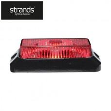 Strands Blixtljus 12-24V 3LEDx3W IP68 ECE/R65 godkänd Röd