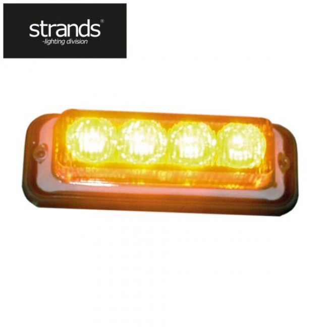 Blixtljus 12-24V 4LED Orange