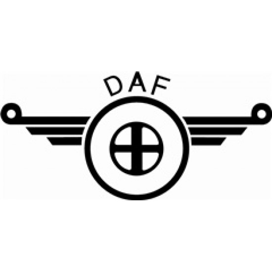 Dekal DAF  silver