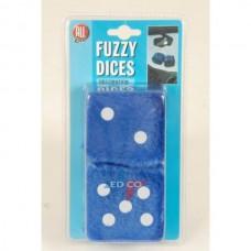"""Tärningar """"Fuzzy dice"""" Blå"""