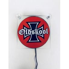 Ljusskylt Old Skool Cross