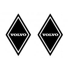 Dekal Volvo ruter svart