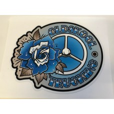 Dekal Oldskool trucking blå