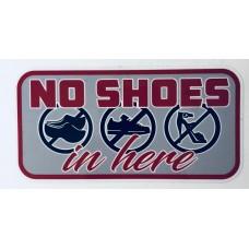 Dekal No shoes
