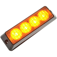 Blixtljus 4 LED orange 12-24V